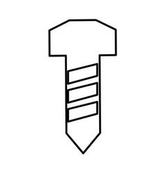 Screw construction tool icon vector