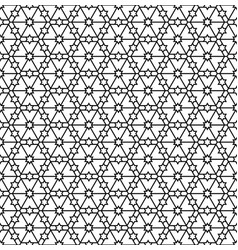 seamless geometric pattern in black and white vector image