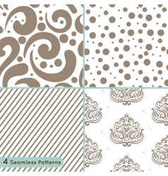 Seamless pattern circles lines swirls ornament vector image vector image