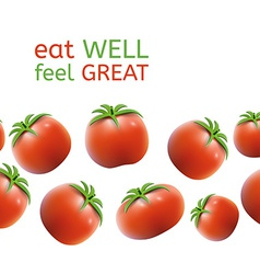 Seamless Tomato Background vector image