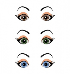 Set female eyes isolated vector