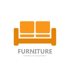 Sofa furniture logo or symbol icon vector image