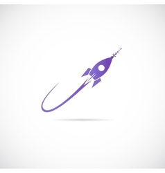Space Ship Symbol Icon or Label vector image