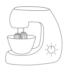 stand mixer icon outline vector image