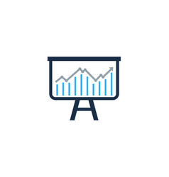 stock market business logo icon design vector image