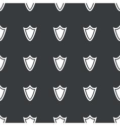Straight black shield pattern vector