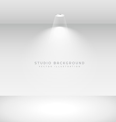 Studio background with spot light vector
