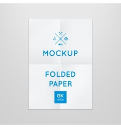template of folded poster placed in vector image