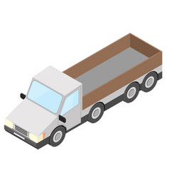 Truck isometric vector