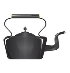 Victorian cast iron kettle vector