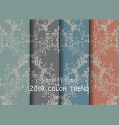 vintage baroque victorian pattern set vector image