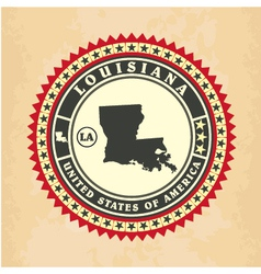 Vintage label-sticker cards of Louisiana vector