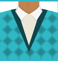 Vintage male sweater vector