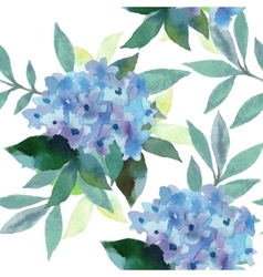 watercolor pattern hydrangea flowers vector image