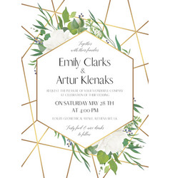 Wedding invite save the date card modern design vector