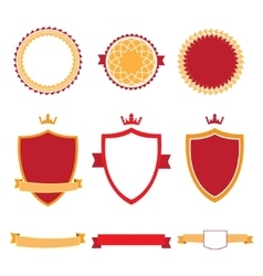 Colorful flat design badges collection vector image vector image