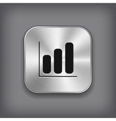 Diagram icon - metal app button vector image vector image