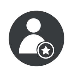 Monochrome round favorite user icon vector