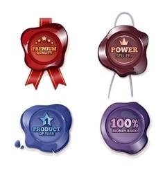 Satisfaction guarantee on wax seal vector