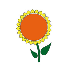 sunflower plant stem natural garden image vector image