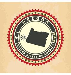Vintage label-sticker cards of Oregon vector image vector image