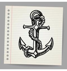 Anchor sketch vector image vector image