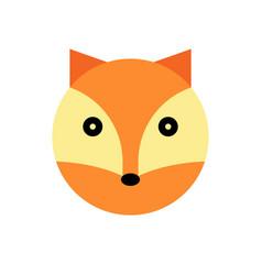fox cartoon animal head vector image vector image