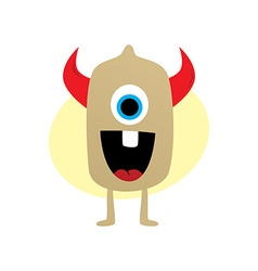 happy little monster vector image
