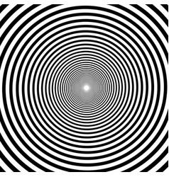 hypnotic spiral background volute spiral vector image vector image