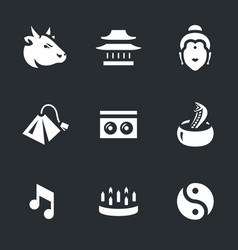 set of india icons vector image