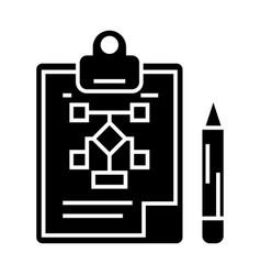 business scheme - business plan - pencil - vector image