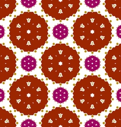 Colored lace pattern vector image vector image