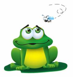 frog and fly vector image vector image