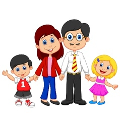 Happy family cartoon vector image vector image