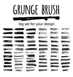set of grunge brush vector image