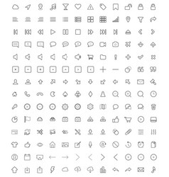 set of universal icons 3 vector image vector image
