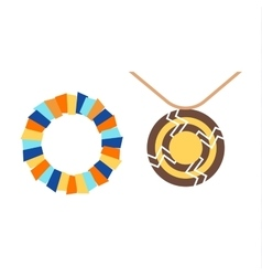 Tribal necklace vector image