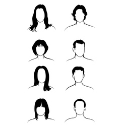 stylish hairstyles - vector image vector image