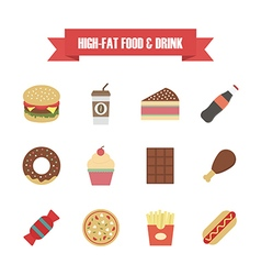 121hi fat food white vector image
