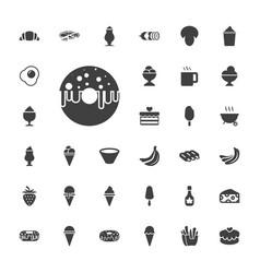 33 tasty icons vector
