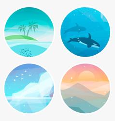 4 landscape vector image
