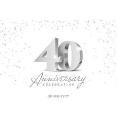40 years anniversary celebration vector