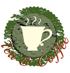 A tea and coffee label vector image