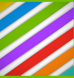 abstract bright stripes on a white background vector image