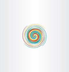 Abstract colorful spiral tornado icon background vector