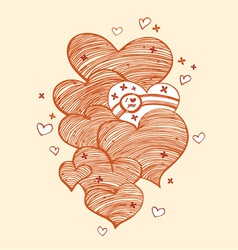 abstract heart designs vector image