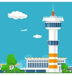 Airport with Control Tower vector image