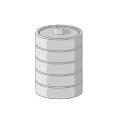 Aluminum barrel for beer icon monochrome style vector