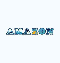 Amazon concept word art vector