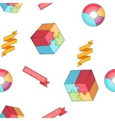 Analysis pattern cartoon style vector